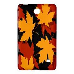 Dried Leaves Yellow Orange Piss Samsung Galaxy Tab 4 (8 ) Hardshell Case  by Alisyart