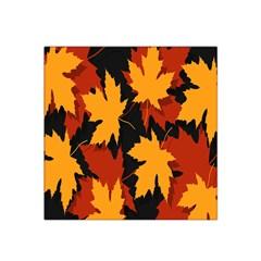 Dried Leaves Yellow Orange Piss Satin Bandana Scarf by Alisyart