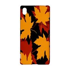 Dried Leaves Yellow Orange Piss Sony Xperia Z3+ by Alisyart