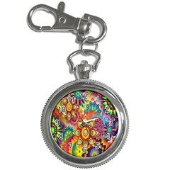 Colorful Abstract Flower Floral Sunflower Rose Star Rainbow Key Chain Watches by Alisyart