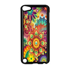 Colorful Abstract Flower Floral Sunflower Rose Star Rainbow Apple Ipod Touch 5 Case (black) by Alisyart