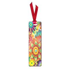 Colorful Abstract Flower Floral Sunflower Rose Star Rainbow Small Book Marks by Alisyart