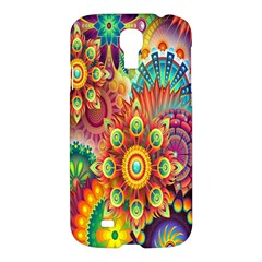 Colorful Abstract Flower Floral Sunflower Rose Star Rainbow Samsung Galaxy S4 I9500/i9505 Hardshell Case by Alisyart