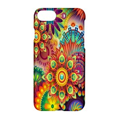 Colorful Abstract Flower Floral Sunflower Rose Star Rainbow Apple Iphone 7 Hardshell Case by Alisyart