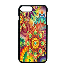 Colorful Abstract Flower Floral Sunflower Rose Star Rainbow Apple iPhone 7 Plus Seamless Case (Black) by Alisyart