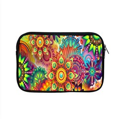 Colorful Abstract Flower Floral Sunflower Rose Star Rainbow Apple Macbook Pro 15  Zipper Case by Alisyart