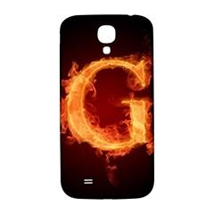 Fire Letterz G Samsung Galaxy S4 I9500/i9505  Hardshell Back Case by Alisyart