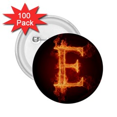 Fire Letterz E 2 25  Buttons (100 Pack)