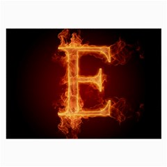 Fire Letterz E Large Glasses Cloth (2 Side) by Alisyart