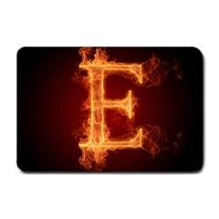 Fire Letterz E Small Doormat  by Alisyart