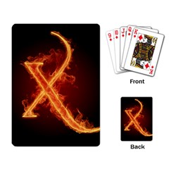 Fire Letterz X Playing Card