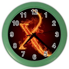 Fire Letterz X Color Wall Clocks