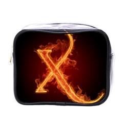 Fire Letterz X Mini Toiletries Bags by Alisyart