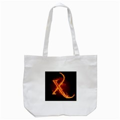 Fire Letterz X Tote Bag (white)