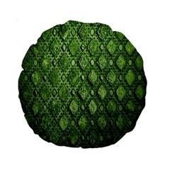 Circle Square Green Stone Standard 15  Premium Round Cushions