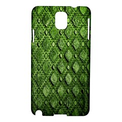 Circle Square Green Stone Samsung Galaxy Note 3 N9005 Hardshell Case by Alisyart