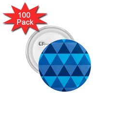 Geometric Chevron Blue Triangle 1 75  Buttons (100 Pack)  by Alisyart