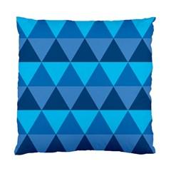 Geometric Chevron Blue Triangle Standard Cushion Case (two Sides) by Alisyart