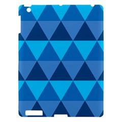 Geometric Chevron Blue Triangle Apple Ipad 3/4 Hardshell Case by Alisyart