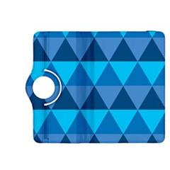 Geometric Chevron Blue Triangle Kindle Fire Hdx 8 9  Flip 360 Case by Alisyart