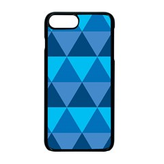 Geometric Chevron Blue Triangle Apple Iphone 7 Plus Seamless Case (black) by Alisyart