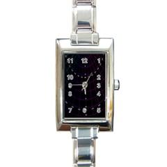 Formula Number Line Purple Natural Rectangle Italian Charm Watch