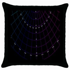 Formula Number Line Purple Natural Throw Pillow Case (black) by Alisyart