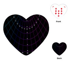 Formula Number Line Purple Natural Playing Cards (heart)  by Alisyart