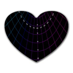 Formula Number Line Purple Natural Heart Mousepads by Alisyart