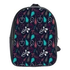 Fruit Pear Apple Purple Pink Blue School Bags (xl)  by Alisyart