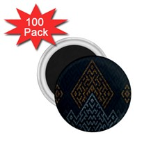 Geometric Triangle Grey Gold 1 75  Magnets (100 Pack)  by Alisyart