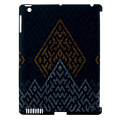 Geometric Triangle Grey Gold Apple Ipad 3/4 Hardshell Case (compatible With Smart Cover) by Alisyart
