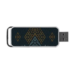 Geometric Triangle Grey Gold Portable Usb Flash (one Side) by Alisyart
