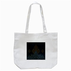 Geometric Triangle Grey Gold Tote Bag (white) by Alisyart