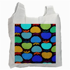 Fruit Apples Color Rainbow Green Blue Yellow Orange Recycle Bag (one Side) by Alisyart