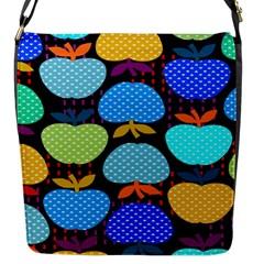 Fruit Apples Color Rainbow Green Blue Yellow Orange Flap Messenger Bag (s) by Alisyart