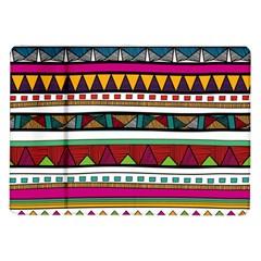 Woven Fabric Triangle Color Rainbow Chevron Wave Jpeg Samsung Galaxy Tab 10 1  P7500 Flip Case by Alisyart