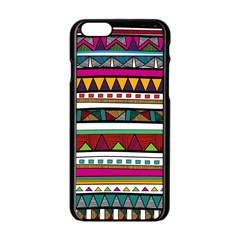 Woven Fabric Triangle Color Rainbow Chevron Wave Jpeg Apple Iphone 6/6s Black Enamel Case by Alisyart