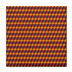 Geometric Plaid Red Orange Tile Coasters by Alisyart