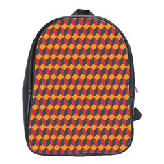Geometric Plaid Red Orange School Bags(large)  by Alisyart