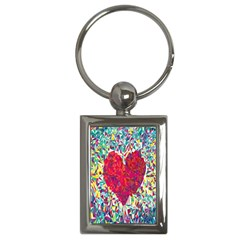Geometric Heart Diamonds Love Valentine Triangle Color Key Chains (rectangle)