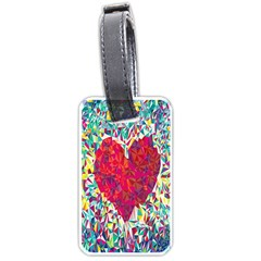 Geometric Heart Diamonds Love Valentine Triangle Color Luggage Tags (two Sides) by Alisyart