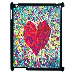 Geometric Heart Diamonds Love Valentine Triangle Color Apple Ipad 2 Case (black) by Alisyart