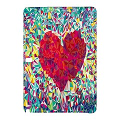 Geometric Heart Diamonds Love Valentine Triangle Color Samsung Galaxy Tab Pro 12 2 Hardshell Case by Alisyart