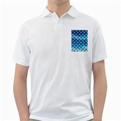 Goose Swan Anchor Blue Golf Shirts