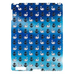 Goose Swan Anchor Blue Apple Ipad 3/4 Hardshell Case by Alisyart