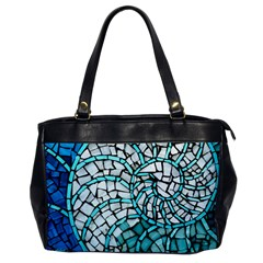 Glass Mosaics Blue Green Office Handbags by Alisyart