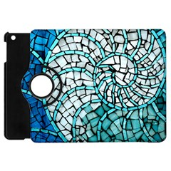 Glass Mosaics Blue Green Apple Ipad Mini Flip 360 Case by Alisyart