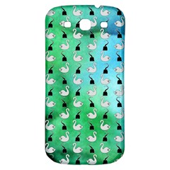 Goose Swan Hook Blue Green Samsung Galaxy S3 S Iii Classic Hardshell Back Case by Alisyart