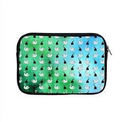 Goose Swan Hook Blue Green Apple Macbook Pro 15  Zipper Case by Alisyart